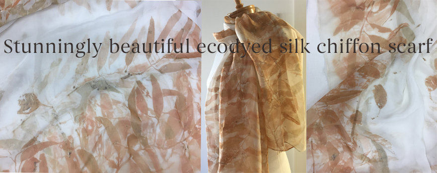 Eco printed by Deb Jemmeson, Gum Leaf Rag using eucalyptus leaves