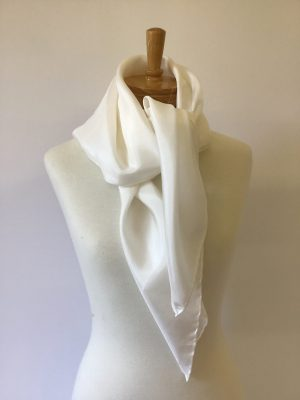 Habutai 8mm blank silk scarf